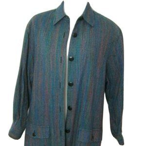Ann May Rainbow Jacket M Silk Vintage Blazer